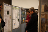 Colloquium attendees browse student poster selections